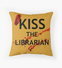 Spike's Kiss the Librarian Mug Throw Pillow