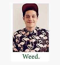 Pete Davidson-- Weed Photographic Print