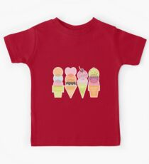 Ice Cream Stamps Kids Tee