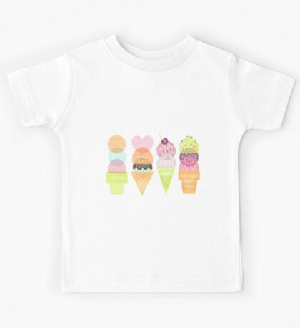 Ice Cream Stamps Kids Tee