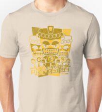 Tiki Mascot Stencil Unisex T-Shirt