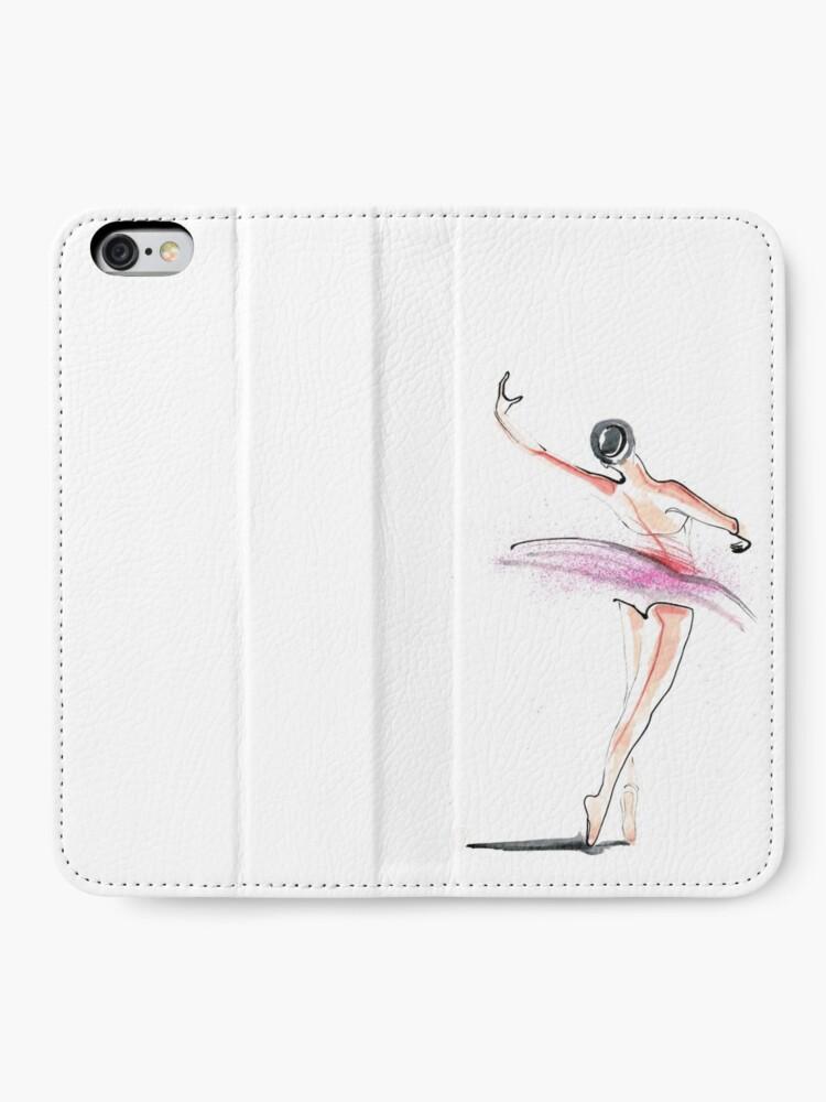 Alternate view of Ballerina Dance Drawing iPhone Wallet