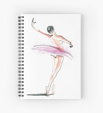Ballerina Dance Drawing Spiral Notebook