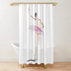 Ballerina Dance Drawing Shower Curtain
