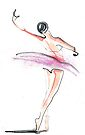 Ballerina Dance Drawing by CatarinaGarcia