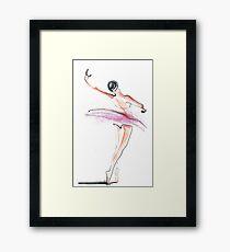 Ballerina Dance Drawing Framed Print
