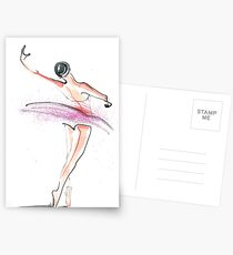 Ballerina Dance Drawing Postcards
