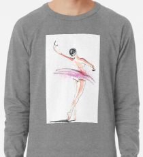 Ballerina Dance Drawing Lightweight Sweatshirt