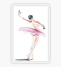 Ballerina Dance Drawing Transparent Sticker