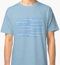 Dress Up, Me Hearties, Yo Ho! (White/Blue) Classic T-Shirt