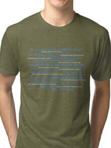 Dress Up, Me Hearties, Yo Ho! (White/Blue) Tri-blend T-Shirt
