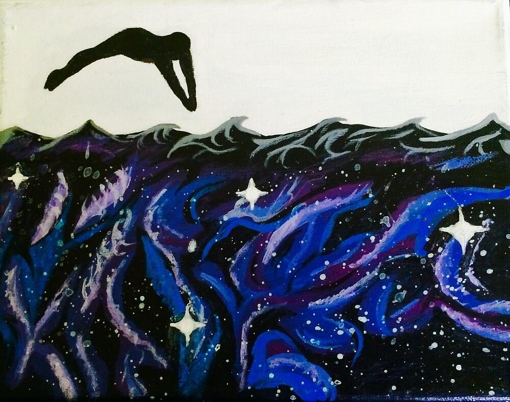 Blue Galaxy Dive  by WillTurnbull