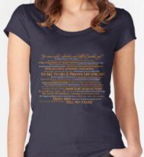 Dress Up, Me Hearties, Yo Ho! (White/Orange) Women's Fitted Scoop T-Shirt