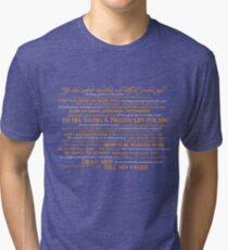 Dress Up, Me Hearties, Yo Ho! (White/Orange) Tri-blend T-Shirt