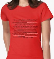 Dress Up, Me Hearties, Yo Ho! (Black/White) Women's Fitted T-Shirt