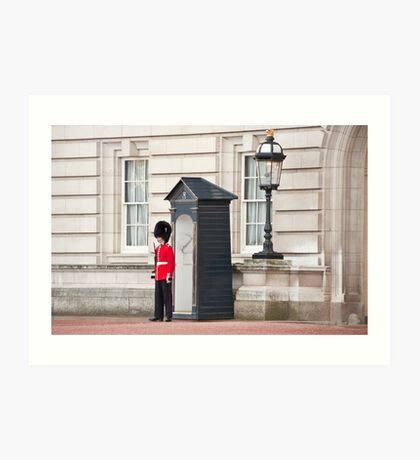 The Lone Sentry: Buckingham Palace, London, UK. Art Print