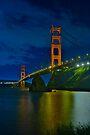 Golden Gate Night by photosbyflood