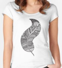 feather  Women's Fitted Scoop T-Shirt