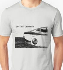 Valiant Charger Australian Muscle Car rear view, GO THE CHARGER black Unisex T-Shirt