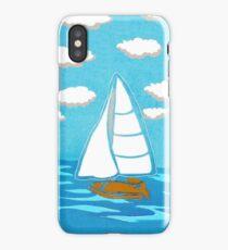 Sailboat Printmaking Art iPhone Case/Skin