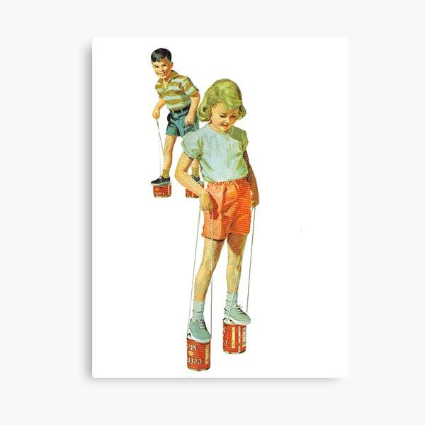 The Simple Life : Tin Can Stilts Canvas Print