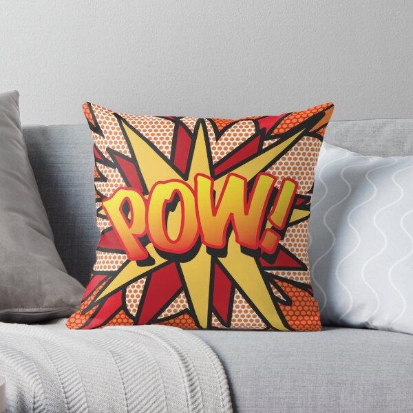 Comic Book Pop Art POW! Throw Pillow
