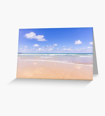 Gentle waves at Watergate Bay, Cornwall, UK Greeting Card
