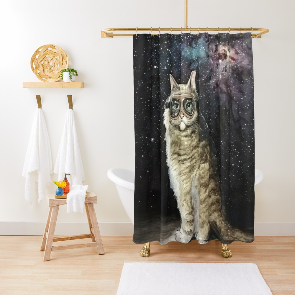 What are you lookin at Shower Curtain