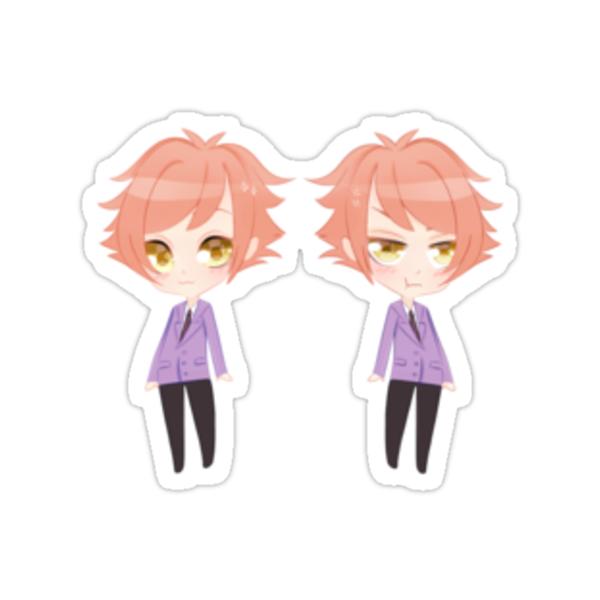 """Hikaru and Kaoru Chibi"" Stickers by Poshons | Redbubble  ""Hikaru an..."