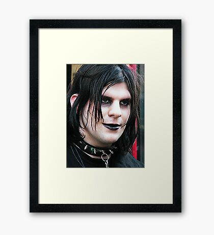 The Goth Weekend at Whitby, Oct 2010. 12 Framed Print