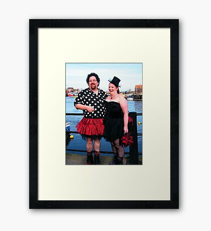 The Goth Weekend at Whitby, Oct 2010. 13 Framed Print
