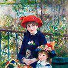 Zwei Schwestern (Auf der Terrasse) (1881) von Pierre-Auguste Renoir. von Igor Drondin