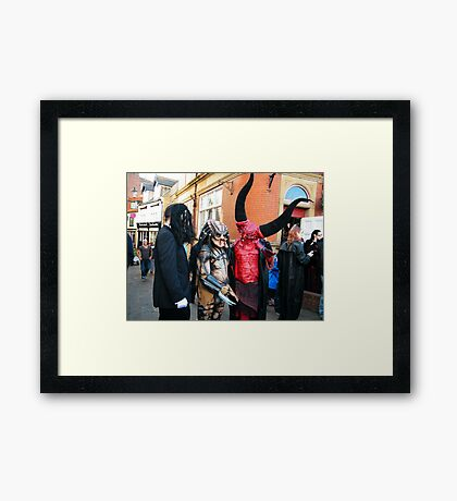 The Goth Weekend at Whitby, Oct 2010. 15 Framed Print