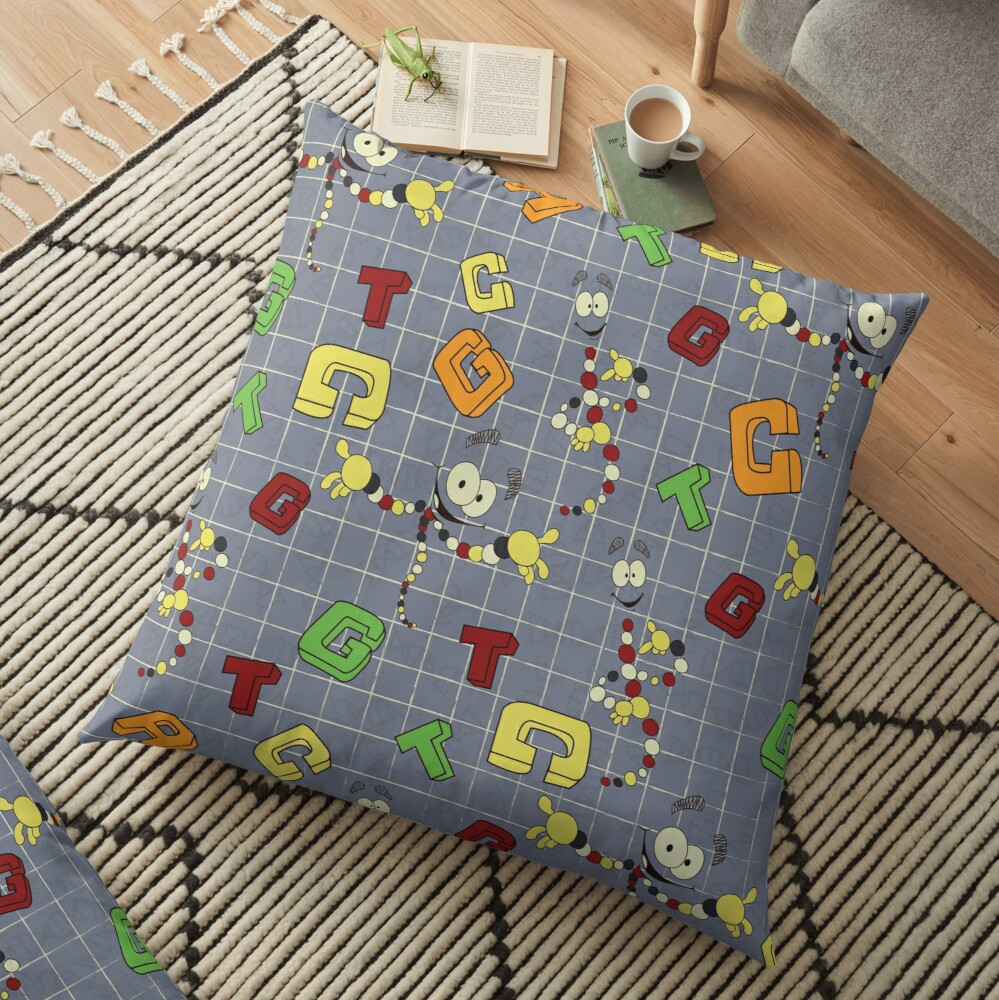Dino DNA Floor Pillow