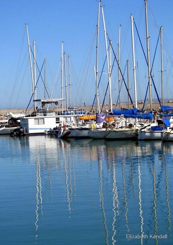 Boats at Club Mykonos by Elizabeth Kendall