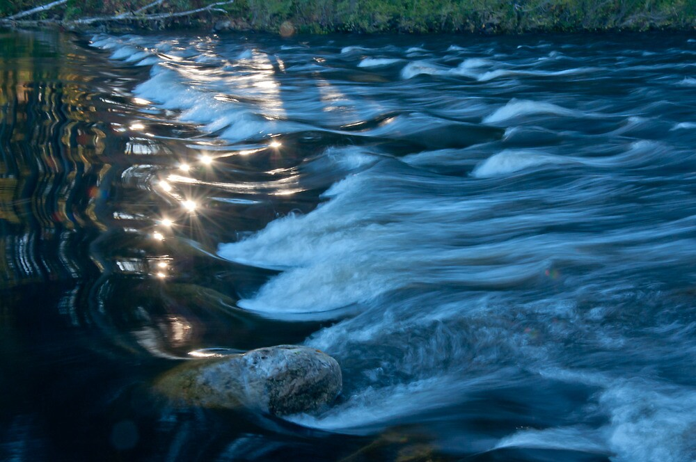 moving water number one by Dave  Higgins