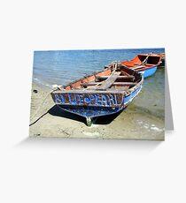 Boats at Jacobsbaai. Greeting Card
