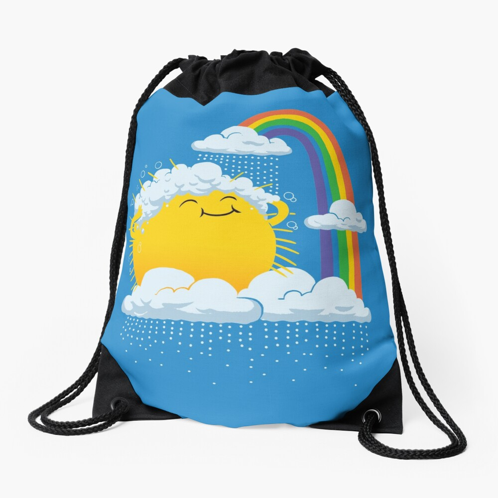 Rainy Day Drawstring Bag