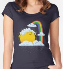 Rainy Day Fitted Scoop T-Shirt