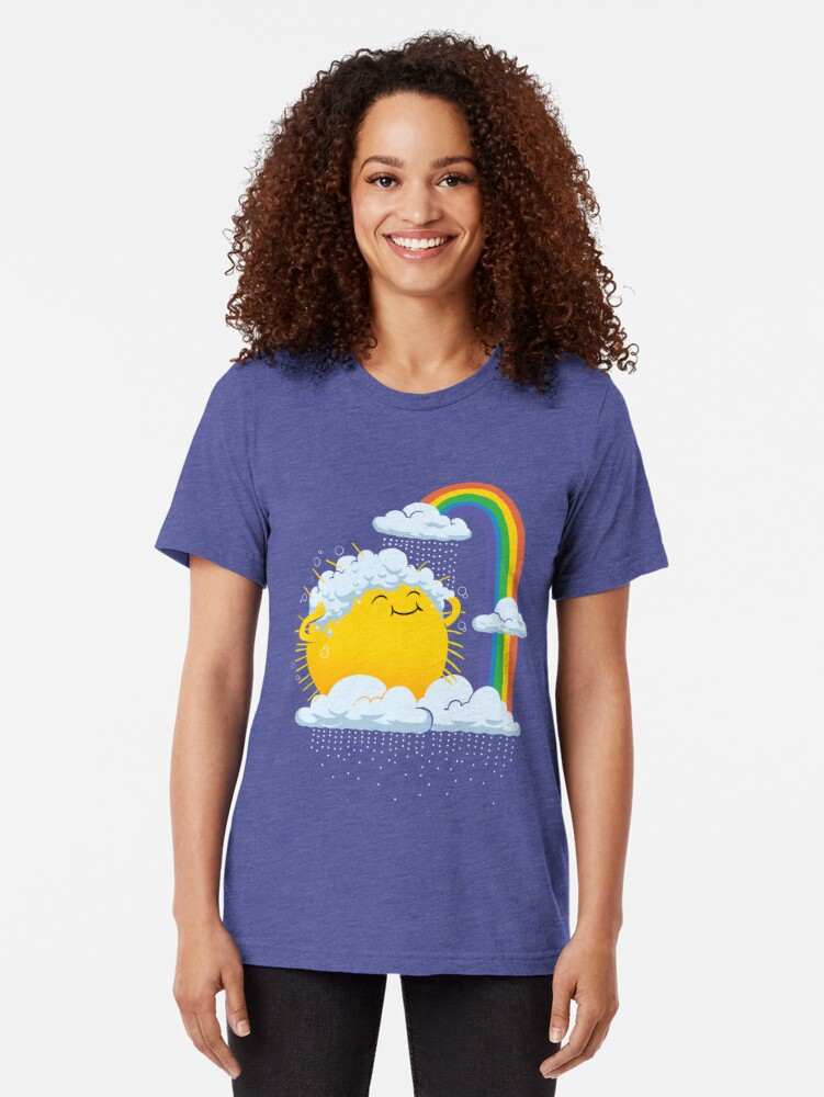 Alternate view of Rainy Day Tri-blend T-Shirt