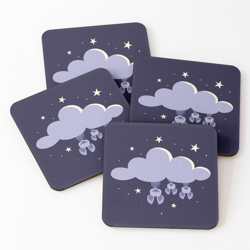 Dreaming bats Coasters (Set of 4)