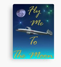 Fly Me To The Moon - Design 2 Canvas Print