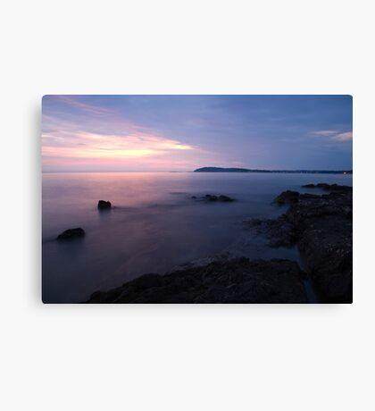Dusk on Croatian Istria Canvas Print