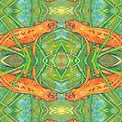 Eastern newt painting - 2019 by Gwenn Seemel