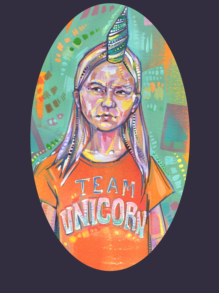 Team Unicorn painting - 2019 by gwennpaints
