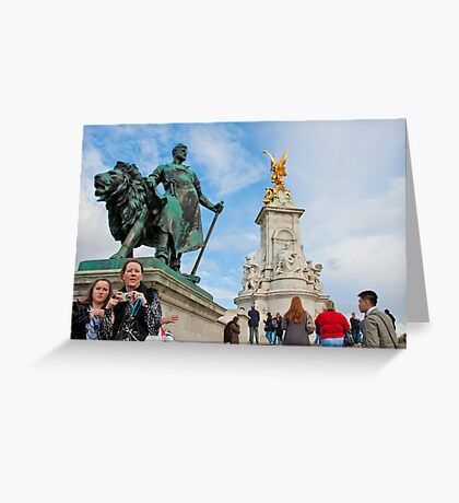 Queen Victoria Memorial: Buckingham Palace, London. UK. Greeting Card