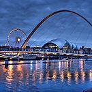 Newcastle Quayside at Night by Ann Garrett