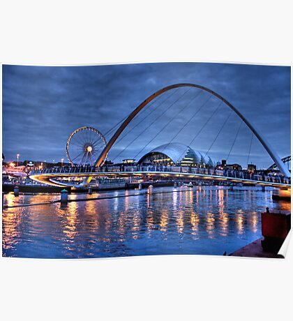 Newcastle Quayside at Night Poster