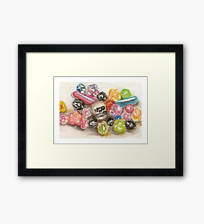 Beads of the Dead Framed Print