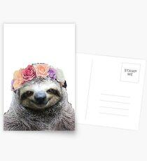 Flower Crown Sloth Postcards
